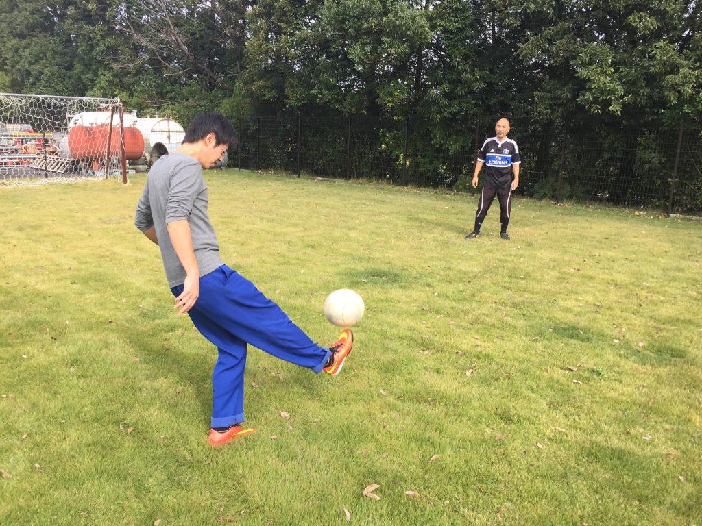 カシワテックの昼休み サッカー